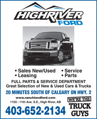 Ford (403-652-2134) - Display Ad