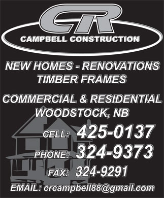 C R Campbell Construction Ltd (506-425-0137) - Annonce illustrée - 324-9291