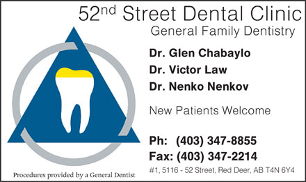 52nd Street Dental Clinic (403-347-8855) - Annonce illustr&eacute;e