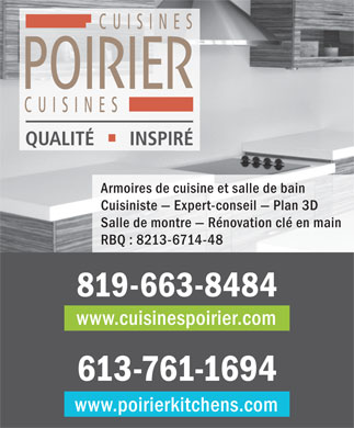 Cuisines Poirier (819-663-8484) - Display Ad