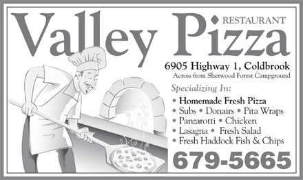 Valley Pizza Restaurant (902-679-5665) - Annonce illustrée