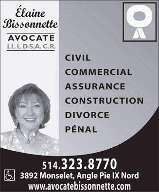 Bissonnette Elaine (514-323-8770) - Display Ad