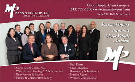 Mann & Partners LLP (613-722-1500) - Display Ad