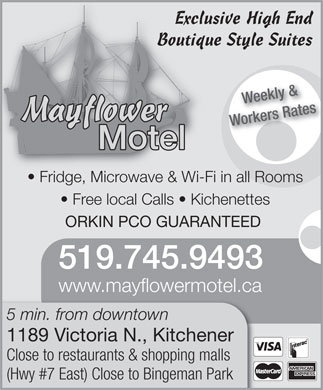 Mayflower Motel (519-745-9493) - Annonce illustrée