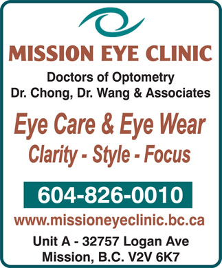 Mission Eye Clinic (604-826-0010) - Annonce illustrée