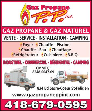 Gaz propane p p 834 boul du sacr coeur saint f licien qc for Chauffe eau piscine propane