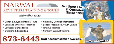 NARWAL Adventure Training & Tours (867-873-6443) - Display Ad