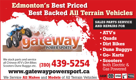 Gateway Power Sports Ltd (780-439-5254) - Display Ad