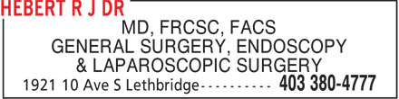Dr Luke Szobota (403-380-4777) - Annonce illustrée - MD, FRCSC, FACS GENERAL SURGERY, ENDOSCOPY & LAPAROSCOPIC SURGERY