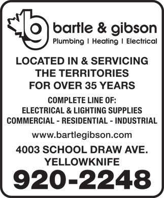 Bartle & Gibson Co Ltd (867-920-2248) - Display Ad