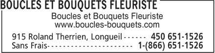 Boucles &amp; Bouquets Fleuriste (450-651-1526) - Annonce illustr&eacute;e - Boucles et Bouquets Fleuriste www.boucles-bouquets.com