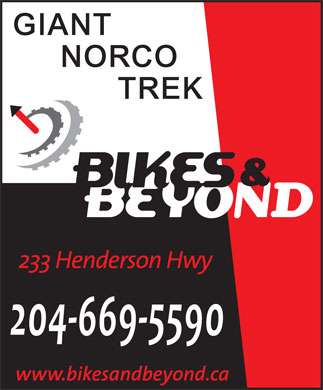 Bikes &amp; Beyond (204-669-5590) - Annonce illustr&eacute;e