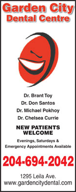 Garden City Dental Centre (204-694-2042) - Annonce illustrée