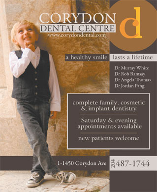 Corydon Dental Centre (204-515-1526) - Display Ad - 204