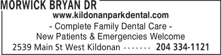 Kildonan Park Dental Centre (204-515-1547) - Annonce illustrée - www.kildonanparkdental.com - Complete Family Dental Care - New Patients & Emergencies Welcome www.kildonanparkdental.com - Complete Family Dental Care - New Patients & Emergencies Welcome
