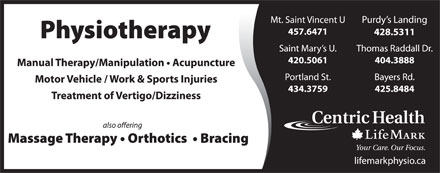 LifeMark Physiotherapy (902-425-8484) - Display Ad