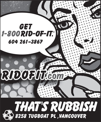 That's Rubbish (604-696-3213) - Display Ad