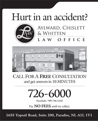 Aylward Chislett & Whitten Law Office (709-700-1008) - Annonce illustrée