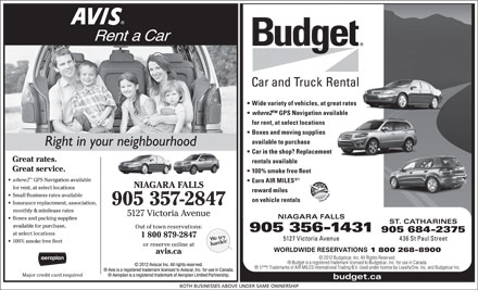 Avis Rent A Car (905-357-2847) - Display Ad
