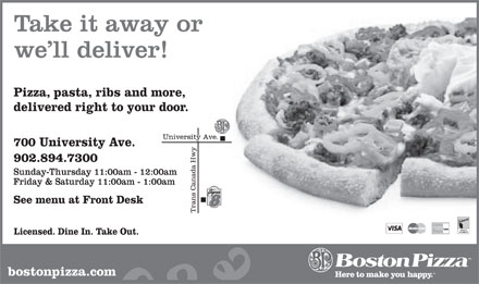Boston Pizza (902-894-7300) - Annonce illustrée