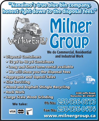 Milner Group Ventures Inc. (250-756-0773) - Display Ad