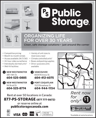 Public Storage (1-877-777-8672) - Display Ad