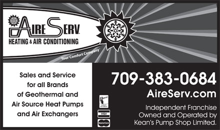 Aire Serv (709-753-4328) - Display Ad