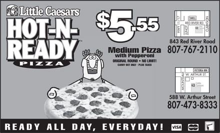 Little Caesars Pizza (807-473-8333) - Display Ad