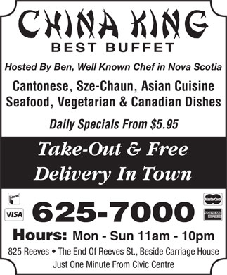 China King Buffet Restaurant (902-625-7000) - Annonce illustrée