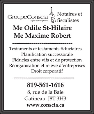 Groupe Conscia Inc (819-561-1616) - Display Ad