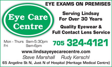 Eye Care Centre (705-324-4121) - Display Ad
