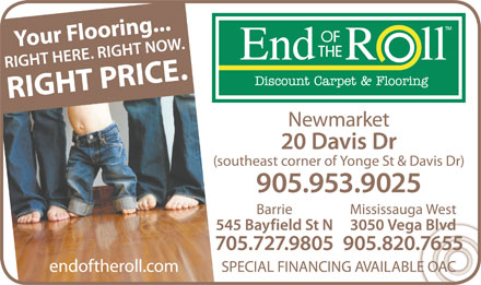 End Of The Roll (905-953-9025) - Display Ad