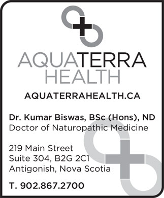 Aqua Terra Health (902-867-2700) - Display Ad
