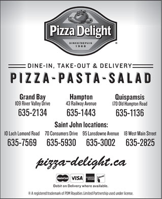 Pizza Delight (1-888-284-2226) - Annonce illustrée - 635-2134 635-1443 635-1136 635-7569 635-5930 635-3002 635-2825 pizza-delight.ca