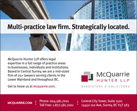 McQuarrie Hunter LLP (604-581-7001) - Display Ad