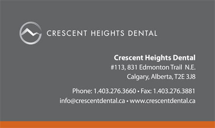 Crescent Heights Dental Clinic (403-276-3660) - Annonce illustrée
