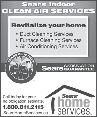 Sears Home Services-Sears Indoor Clean Air Services (1-800-811-2115) - Display Ad