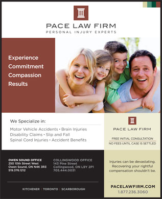 Pace Law Firm (226-909-3139) - Display Ad