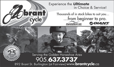 Brant Cycle And Sports Limited (289-812-4246) - Display Ad