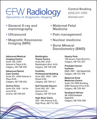 EFW Radiology (403-727-0122) - Display Ad
