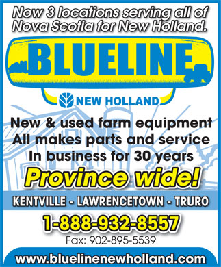 Blueline New Holland (902-895-2583) - Annonce illustrée