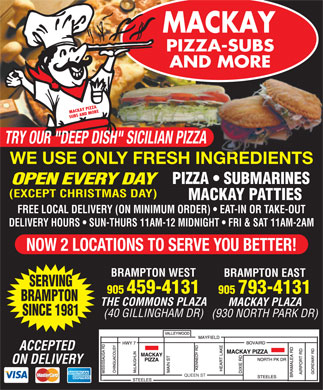 Mackay Pizza & Subs (905-793-4131) - Display Ad