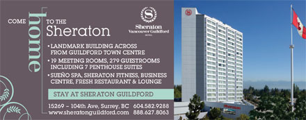 Sheraton Vancouver Guildford Hotel (1-888-627-8063) - Display Ad