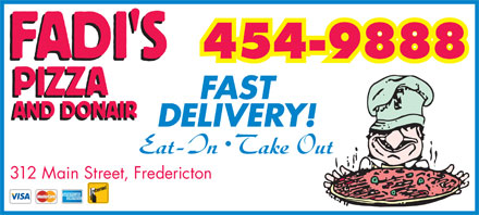 Fadi's Pizza And Donair Inc (506-454-9888) - Annonce illustr&eacute;e