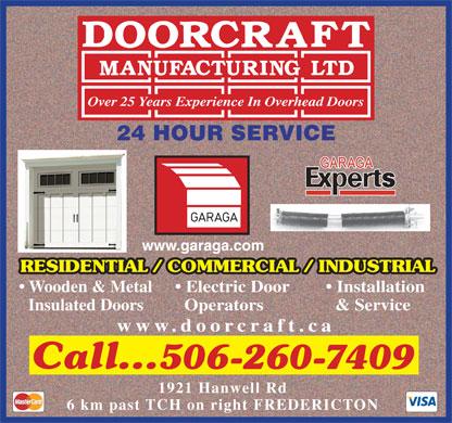 Doorcraft Manufacturing Ltd 1 888 649 5726 Display Ad