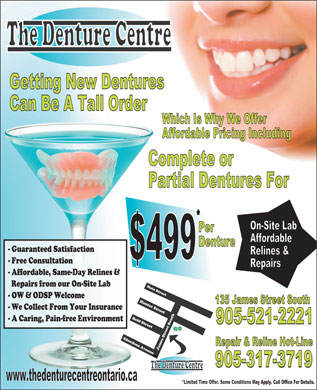 Denture Centre The (289-799-1371) - Display Ad