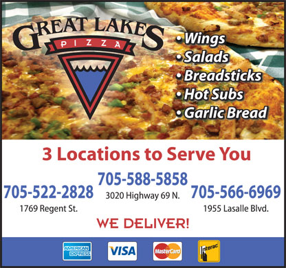 Great Lakes Pizza Company (705-566-6969) - Display Ad