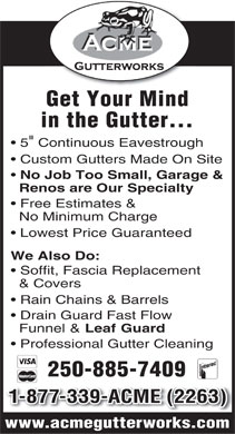 Acme Gutterworks (1-877-339-2263) - Display Ad