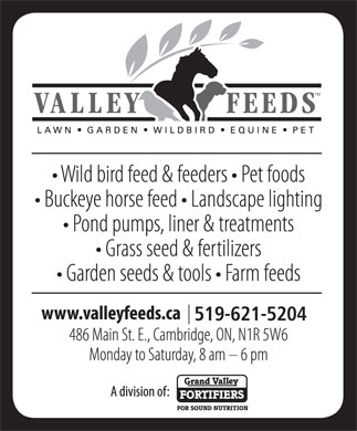 Valley Feeds (Div of Grand Valley Fortifiers) (519-621-5204) - Annonce illustrée - 519-621-5204 519-621-5204