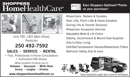 Shoppers Home Health Care (250-492-7592) - Annonce illustrée